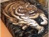 Покрывало для кровати с большим рисунком тигра